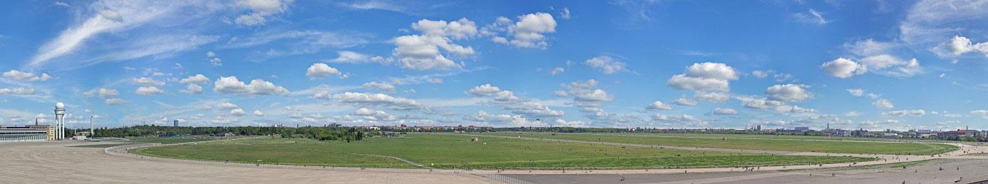 Panorama Foto vom Tempelhofer Flughafen